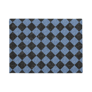 SQUARE2 BLACK MARBLE & BLUE DENIM DOORMAT