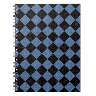 SQUARE2 BLACK MARBLE & BLUE DENIM SPIRAL NOTEBOOK