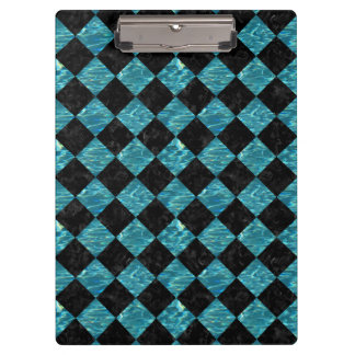 SQUARE2 BLACK MARBLE & BLUE-GREEN WATER CLIPBOARD
