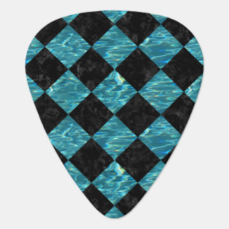 SQUARE2 BLACK MARBLE & BLUE-GREEN WATER GUITAR PICK