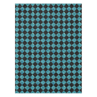 SQUARE2 BLACK MARBLE & BLUE-GREEN WATER TABLECLOTH