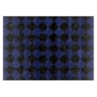 SQUARE2 BLACK MARBLE & BLUE LEATHER BOARDS
