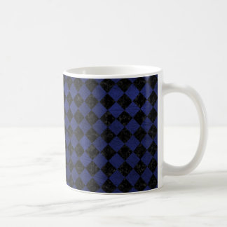 SQUARE2 BLACK MARBLE & BLUE LEATHER COFFEE MUG