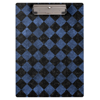 SQUARE2 BLACK MARBLE & BLUE STONE CLIPBOARD
