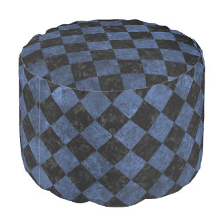SQUARE2 BLACK MARBLE & BLUE STONE POUF