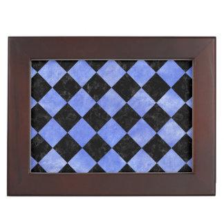 SQUARE2 BLACK MARBLE & BLUE WATERCOLOR KEEPSAKE BOX