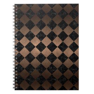 SQUARE2 BLACK MARBLE & BRONZE METAL NOTEBOOKS