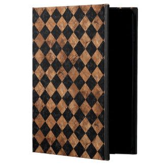 SQUARE2 BLACK MARBLE & BROWN STONE POWIS iPad AIR 2 CASE