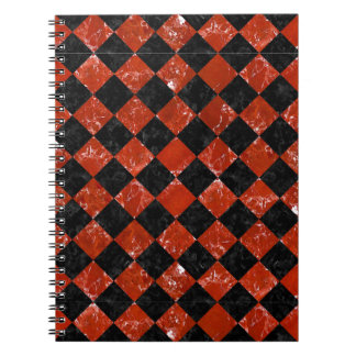 SQUARE2 BLACK MARBLE & RED MARBLE NOTEBOOK