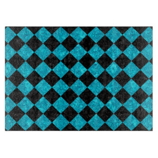 SQUARE2 BLACK MARBLE & TURQUOISE MARBLE CUTTING BOARD