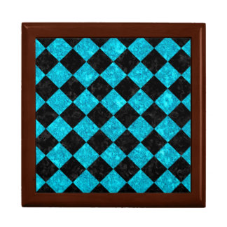 SQUARE2 BLACK MARBLE & TURQUOISE MARBLE GIFT BOX