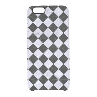 SQUARE2 BLACK MARBLE & WHITE MARBLE CLEAR iPhone 6/6S CASE