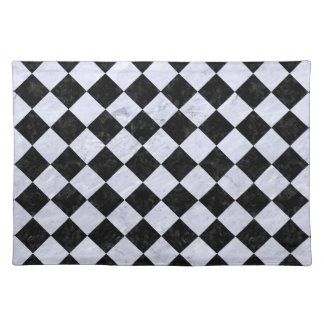 SQUARE2 BLACK MARBLE & WHITE MARBLE PLACEMAT