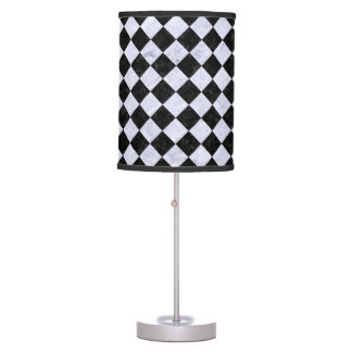 SQUARE2 BLACK MARBLE & WHITE MARBLE TABLE LAMP