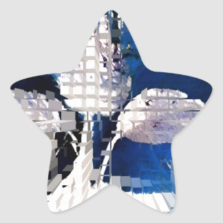 Square #2 design star sticker
