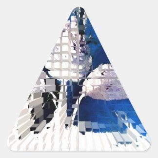 Square #2 design triangle sticker