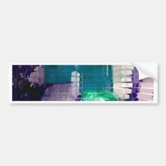 Square #4 design bumper sticker