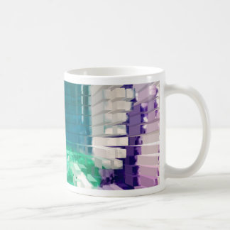 Square #4 design coffee mug