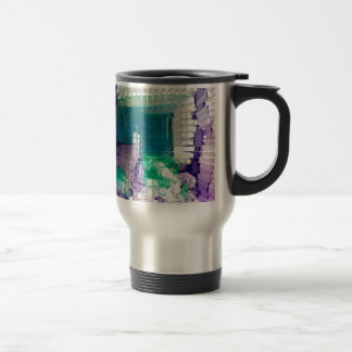 Square #4 design travel mug