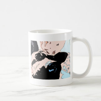 Square #5 design coffee mug
