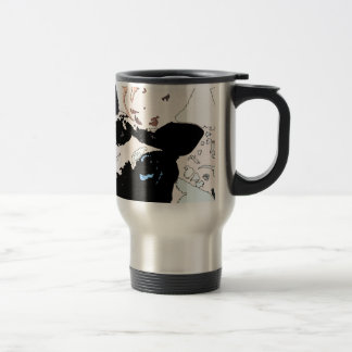 Square #5 design travel mug