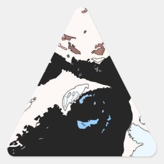 Square #5 design triangle sticker