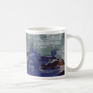 Square #7 design coffee mug
