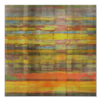 Square Abstract Art Poster Print