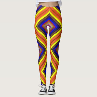 Square Abstract Geometric Art Colorful Prismatic Leggings