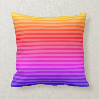 Square accent pillow pink blue lavendar orange