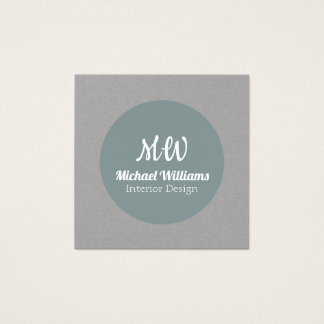 Square and circle cover square business card