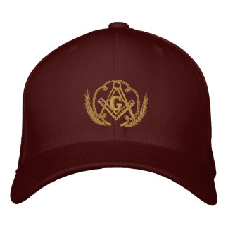 Square and Compass Embroidered Hats
