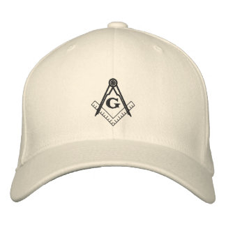 Square and Compass Hat Embroidered Hat