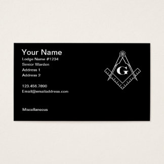 Square and Compass with All Seeing Eye Business Card
