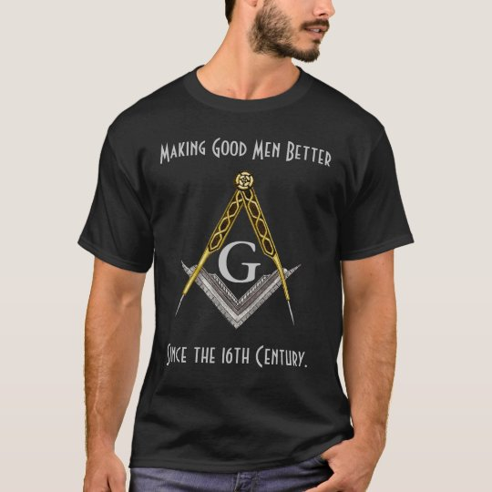 Square and Compass with All Seeing Eye T-Shirt