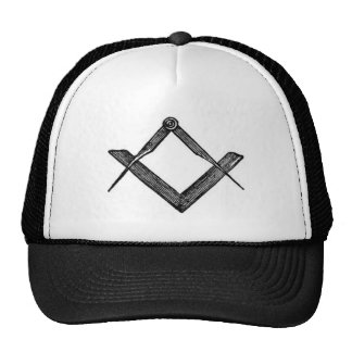 Square and compasses trucker hat