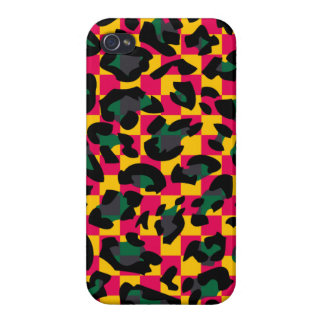 Square animal skin pattern iPhone 4 case