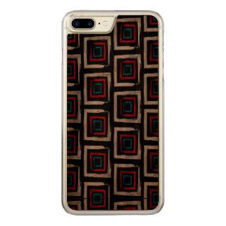 Square Apple iPhone 7 Plus Slim Walnut Wood Case