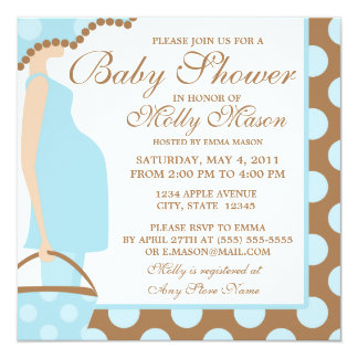 Square Baby Belly Baby Shower Invitation