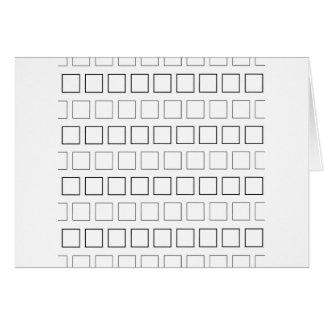 Square Black and White Minimalist Pattern Card