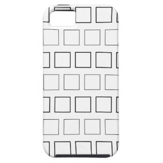 Square Black and White Minimalist Pattern Case For The iPhone 5