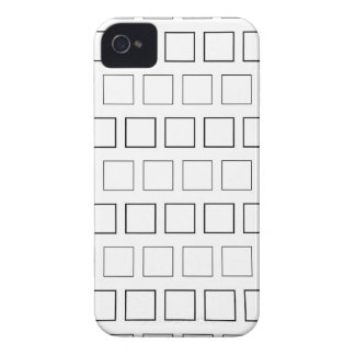 Square Black and White Minimalist Pattern Case-Mate iPhone 4 Cases