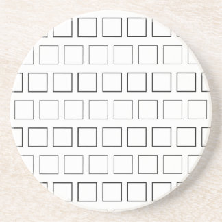 Square Black and White Minimalist Pattern Coasters