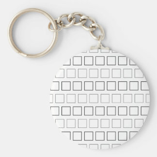 Square Black and White Minimalist Pattern Keychain