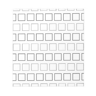 Square Black and White Minimalist Pattern Notepad