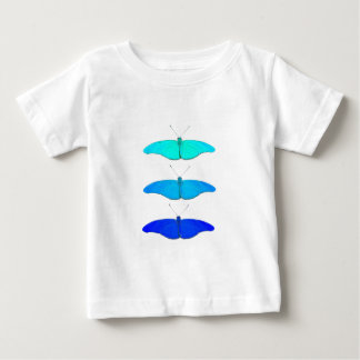 Square blue butterflies baby T-Shirt