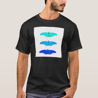Square blue butterflies T-Shirt