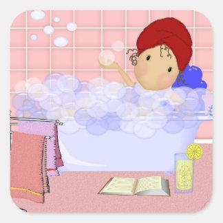Square Bubble Bath Stickers
