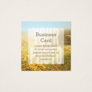 Square Business Card White Overlay Template