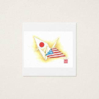 Square Business Cards ~ Japan-U.S. Friendship